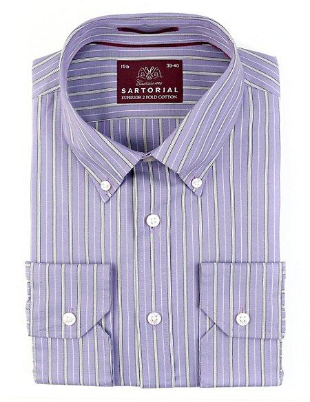 Luxury Pure Cotton Striped Shirt