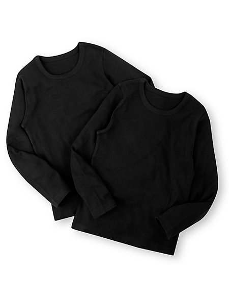 2 Pack Pure Cotton Crew Neck Thermal Vests