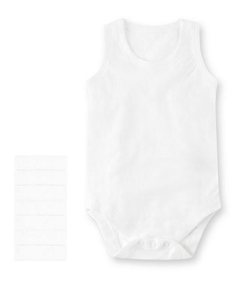 7 Pack Pure Cotton Sleeveless Bodysuits