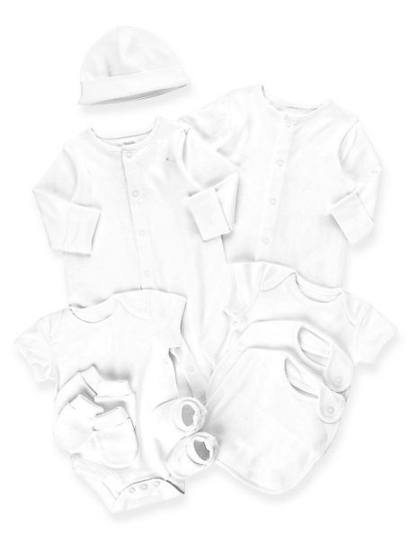 10 Piece Pure Cotton Plain Starter Set