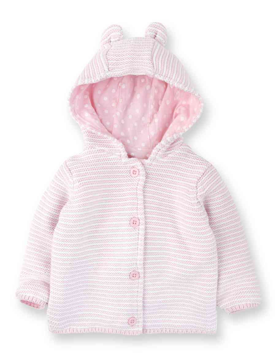 6028bdb7d Pure Cotton Ears Hooded Cardigan