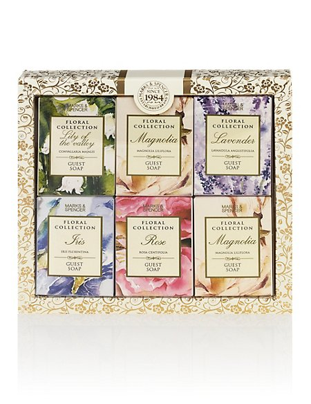 Product images. Skip Carousel. Mixed Guest Soap Gift Set  sc 1 st  Marks u0026 Spencer & Mixed Guest Soap Gift Set | Floral Collection | Mu0026S