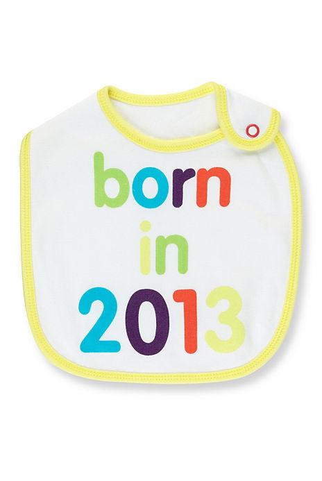 Pure Cotton Born in 2013 Bib