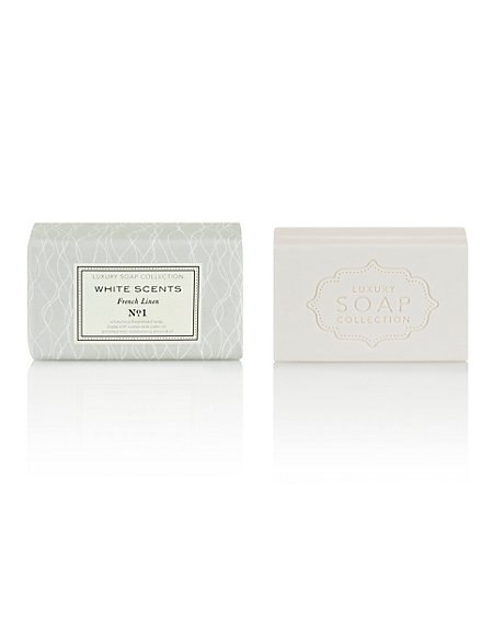 White Scents French Linen Luxury Gift Soap 200g