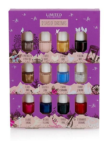 12 Days of Christmas Mini Nail Polish Collection