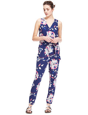 terrific value fashionable and attractive package top brands Fashion Targets Breast Cancer Spotted Floral Jumpsuit