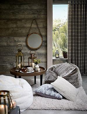 Fine Faux Fur Bean Bag Uwap Interior Chair Design Uwaporg