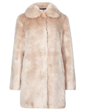 8ad4b0f8b2 Faux Fur Coat   M&S Collection   M&S
