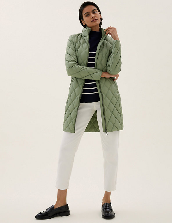 Feather & Down Quilted Longline Puffer Jacket M&S