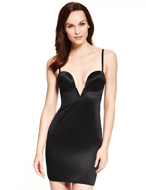 fe31ec950b54 Firm Control Deep V-Neck Body Solutions A-DD Full Slip | M&S Collection |  M&S