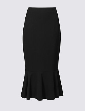 f0720a1264 Fishtail Midi Skirt | M&S Collection | M&S