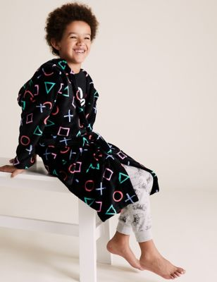 Fleece PlayStation™ Dressing Gown (6-16 Yrs) Image 1 of 8