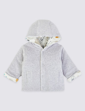 Baby girls soft pink padded jacket coat reversible from Marks and Spencer new