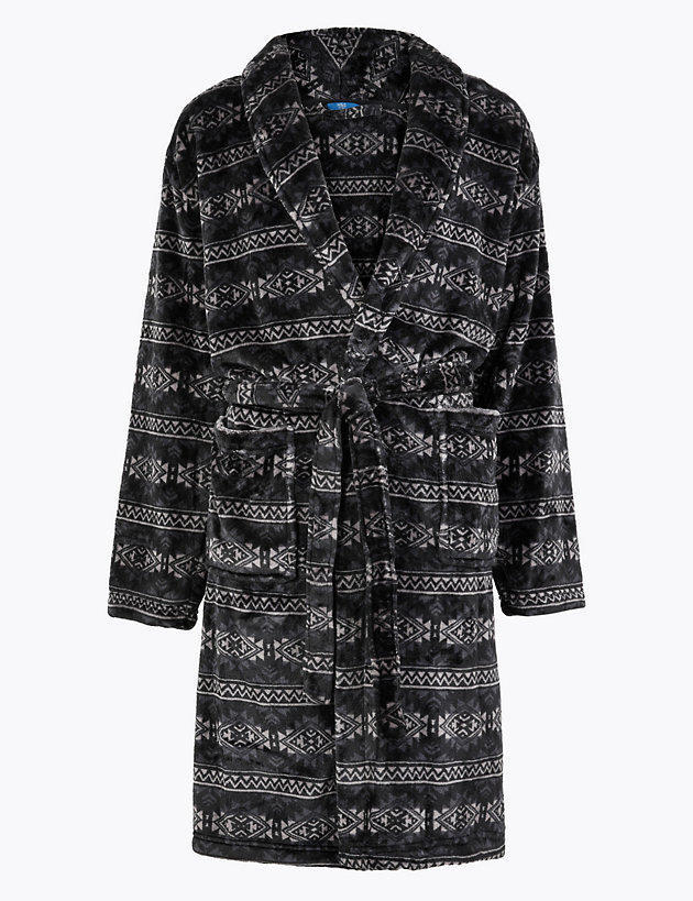 Fleece Supersoft Printed Dressing Gown