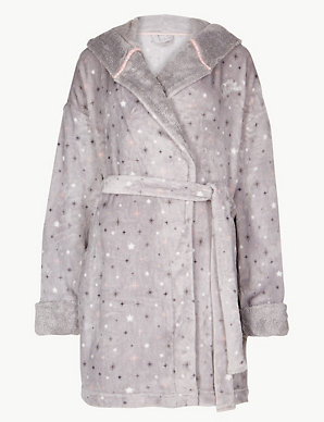 7080bf5d1cc Fleece Tinkerbell Print Dressing Gown | M&S Collection | M&S