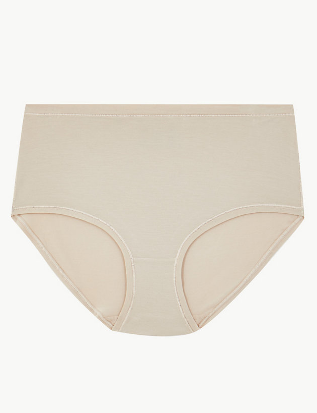 M /& S Black Poker Dot Bikini Single Knickers Size 10 /& 14