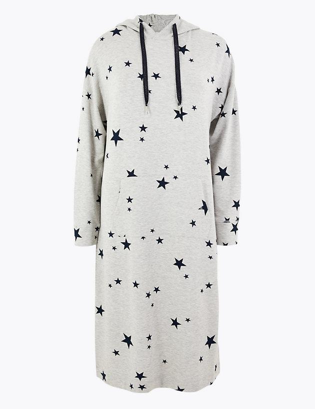 Flexifit™ Star Print Long Lounge Dress