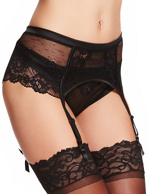 31f372b2a34 Floral Lace Suspender Belt