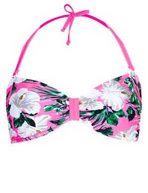 M/&S LIMITED EDITION Removable Padding Halterneck Bandeau Swimsuit
