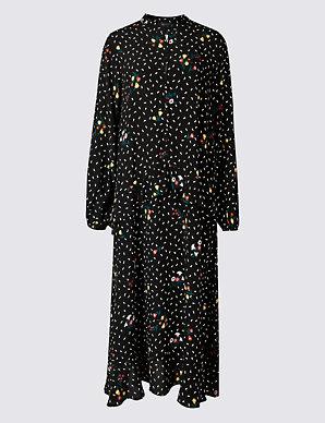 6f4f344213e Floral Print Drop Waist Maxi Dress