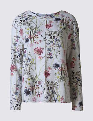4e7c8712b5 Floral Print Long Sleeve Sweatshirt