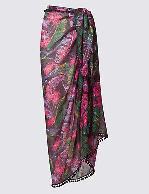 d5b215f2d4 Floral Print Sarong Wrap   M&S Collection   M&S