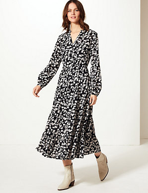 be2ad8a282 Floral Print Waisted Maxi Dress   M&S Collection   M&S