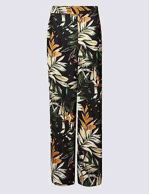d2153d648d05 Floral Print Wide Leg Trousers | Per Una | M&S