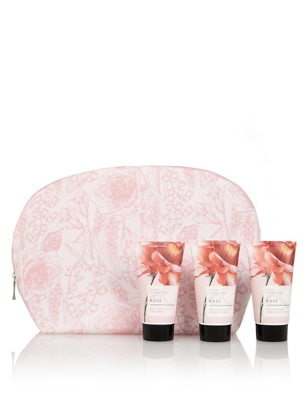 Floral Rose Weekender Bag Gift Set