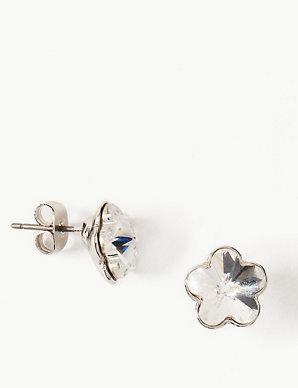 Flower Earrings with Swarovski® Crystals