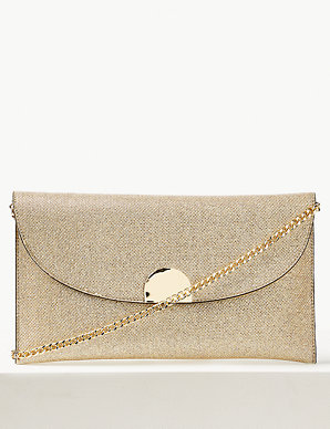 ba7ecac370 Fold Over Chain Clutch Bag | M&S Collection | M&S