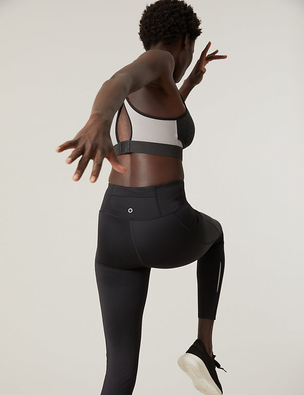 M /& S SPORTS BRA HIGH IMPACT /'FREEDOM TO MOVE/' LILAC MIX  MARKS /& SPENCER