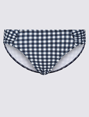 885403ec1a Gingham Print Hipster Bikini Bottoms   M&S Collection   M&S