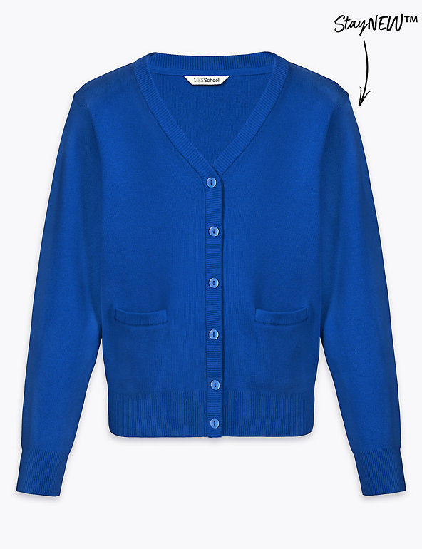 Girls' Cotton Rich School Cardigan | M&S