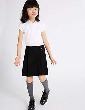 c7909ea359 Girls' Longer Length Pleated Skirt | M&S