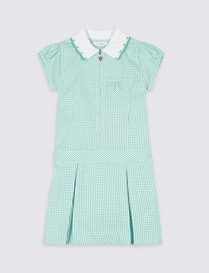 8a321d3298 Girls' Plus Fit Pleated Gingham Dress | M&S