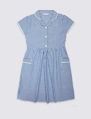 63de8d766 Girls' Pure Cotton Striped Dress | M&S
