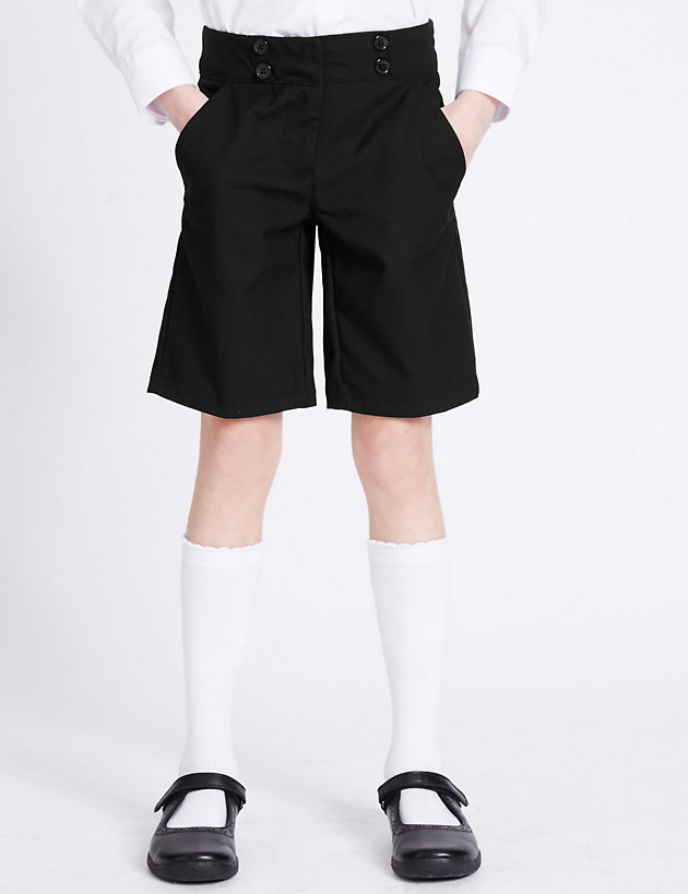 M/&S T761270 School Girls/' Shorts with Adjustable Waist NEW!!
