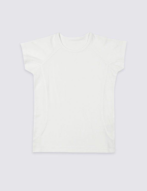 Marks and Spencer M/&S Girls White Tee T Shirt Looking for Paradise Age 5-6 Years