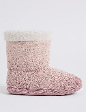 8bc607f03a36 Glitter Ombre Slipper Boots | M&S Collection | M&S