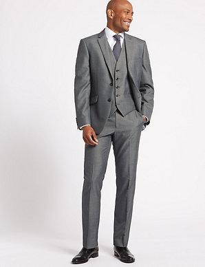 fe314d4f7943 Grey Tailored Fit 3 Piece Suit | M&S