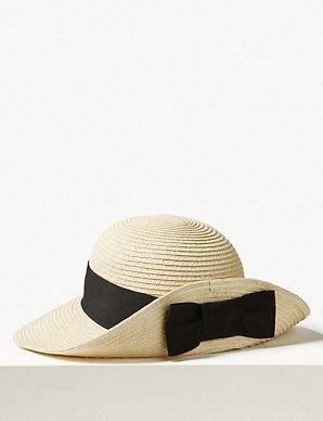 5d68128ffea75 Grosgrain Bow up Brim Sun Hat