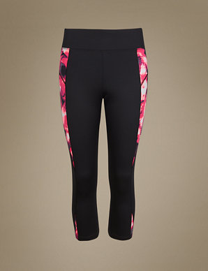 aba782c3ea6d3 Gym Slim Abstract Print Cropped Leggings | M&S Collection | M&S