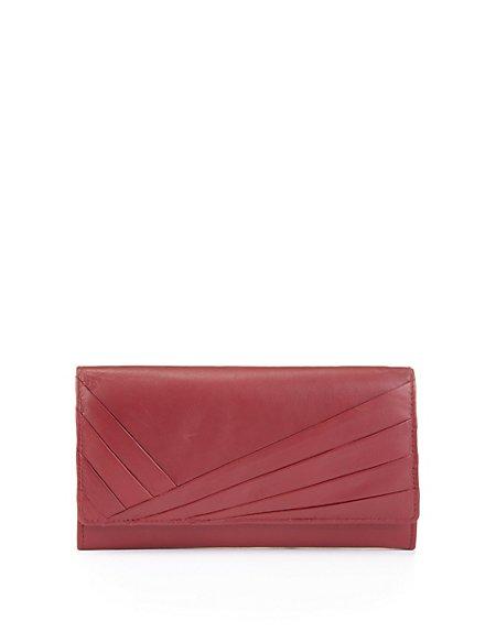 Leather Pleated Large Cardsafe™ Purse