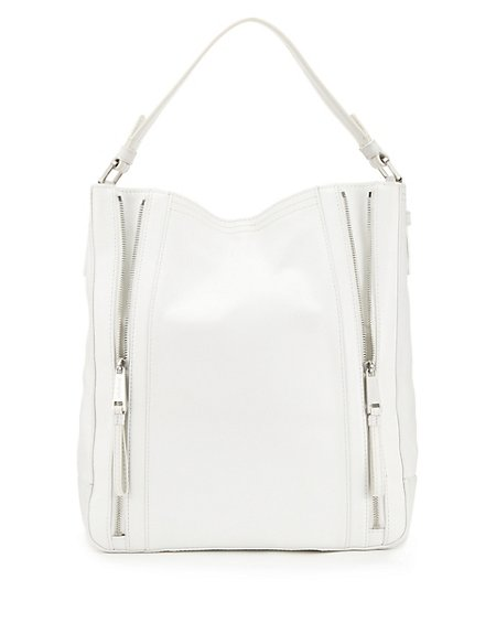 Leather Zip Hobo Bag