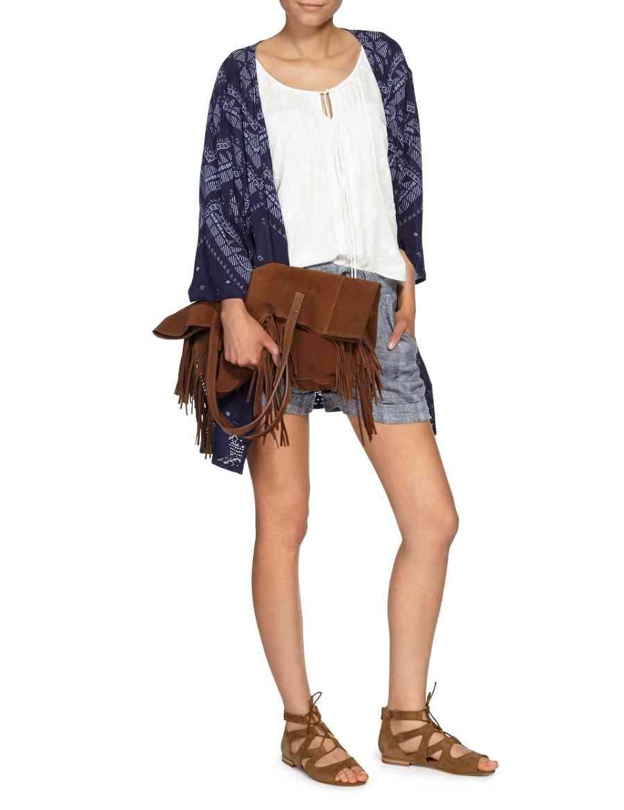 951f39e433c Leather Fringed Shopper Bag | Indigo Collection | M&S