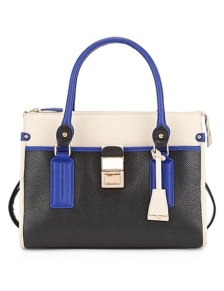 Twiggy for M&S Collection Colour Block Bowler Bag