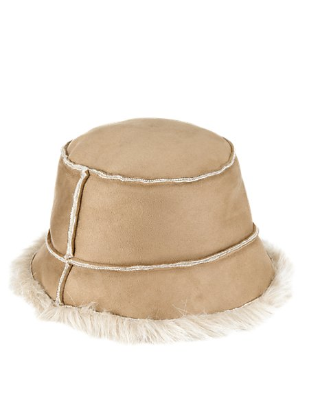 Faux Suede Pull On Hat