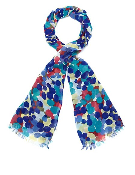 Splodge Dot Print Scarf
