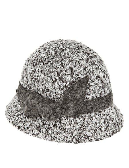 Bouclé Cloche Hat